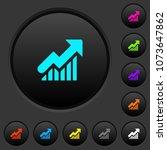 rising graph dark push buttons...   Shutterstock .eps vector #1073647862