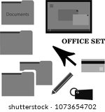 vector illustration. office set ...