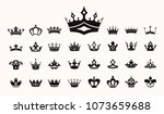 crown vector illustration... | Shutterstock .eps vector #1073659688