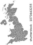 uk map vector outline... | Shutterstock .eps vector #1073663255