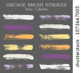 watercolor  ink or paint brush...   Shutterstock .eps vector #1073667005