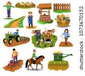 vector countryside set of clip... | Shutterstock .eps vector #1073670152