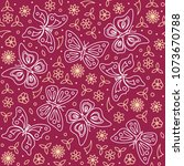 seamless pattern with... | Shutterstock .eps vector #1073670788
