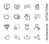 premium outline set of icons... | Shutterstock .eps vector #1073672966