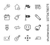 premium outline set of icons... | Shutterstock .eps vector #1073678075