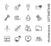 premium outline set of icons... | Shutterstock .eps vector #1073687648