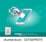 isometric vector illustration ... | Shutterstock .eps vector #1073699075