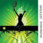 tennis   Shutterstock .eps vector #10737049