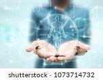 2d illustration human male... | Shutterstock . vector #1073714732