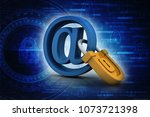 3d rendering e mail symbol with ...   Shutterstock . vector #1073721398