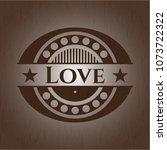 love wood emblem. retro | Shutterstock .eps vector #1073722322