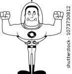a cartoon spaceman looking... | Shutterstock .eps vector #1073730812