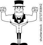 a cartoon ringmaster looking... | Shutterstock .eps vector #1073730842