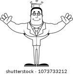 a cartoon teacher ready to give ... | Shutterstock .eps vector #1073733212