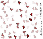 red hearts confetti background. ... | Shutterstock .eps vector #1073736152