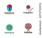 brain logo design   Shutterstock .eps vector #1073752076