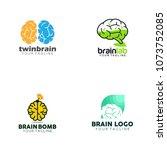 brain logo design | Shutterstock .eps vector #1073752085
