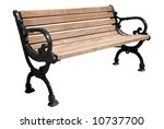 Park Bench Isolated Over A...