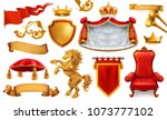 gold crown of the king. royal... | Shutterstock .eps vector #1073777102