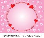mini heart 3 background vector. | Shutterstock .eps vector #1073777132