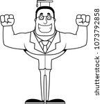 a cartoon teacher smiling.   Shutterstock .eps vector #1073792858