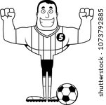 a cartoon soccer player smiling.   Shutterstock .eps vector #1073792885