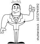 a cartoon businessperson... | Shutterstock .eps vector #1073794592