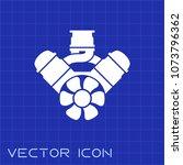 v8 engine flat icon vector on...   Shutterstock .eps vector #1073796362