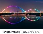 crescent bridge   landmark of... | Shutterstock . vector #1073797478
