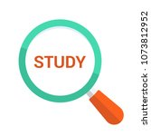 education concept  magnifying... | Shutterstock .eps vector #1073812952