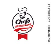chef   restaurant logo design... | Shutterstock .eps vector #1073851535