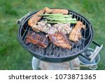 barbecue grill   grilled... | Shutterstock . vector #1073871365