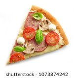 slice of pizza isolated on... | Shutterstock . vector #1073874242