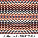 ikat seamless pattern. vector... | Shutterstock .eps vector #1073891495