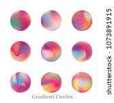 round gradient set of vibrant... | Shutterstock .eps vector #1073891915