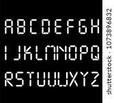 digital font. alarm clock... | Shutterstock .eps vector #1073896832