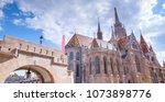 the matthias church... | Shutterstock . vector #1073898776