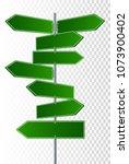 vector street signs. vector... | Shutterstock .eps vector #1073900402