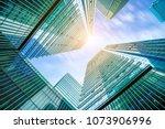 contemporary architecture... | Shutterstock . vector #1073906996