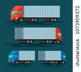 truck delivery vector... | Shutterstock .eps vector #1073909372
