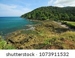 the scenery on the ko lanta yai ... | Shutterstock . vector #1073911532