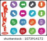 arrows vector grunge icons for...