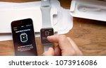 paris  france   apr 12 2018 ...   Shutterstock . vector #1073916086