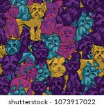 the pattern is made up of small ... | Shutterstock .eps vector #1073917022