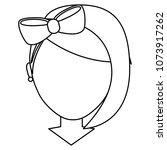 faceless girl with diadem bow... | Shutterstock .eps vector #1073917262