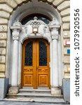 doors in the old architecture ... | Shutterstock . vector #1073920556