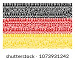 german flag mosaic combined of... | Shutterstock .eps vector #1073931242