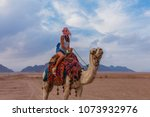 tourist woman in traditional... | Shutterstock . vector #1073932976