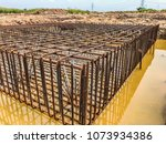 steel pile reinforced with high ... | Shutterstock . vector #1073934386