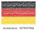 german flag mosaic created of... | Shutterstock .eps vector #1073937506